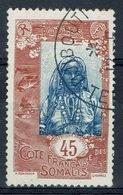 French Somali Coast, 45c., Djiboutian Woman, 1915, VFU - Usati