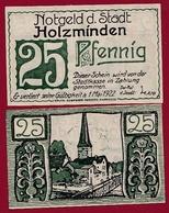 Allemagne 1 Notgeld 25 Pfenning Stadt Holzmingen (SERIE COMPLETE -25-50-75) Dans L 'état N °5225 - Collections