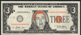 ETATS UNIS FANTASY NLP 3 DOLLARS HILLARY RODMAN 1996  UNC. - Etats-Unis