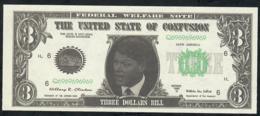 ETATS UNIS FANTASY NLP 3 DOLLARS SERIE 1993 CLINTON  UNC. - Etats-Unis