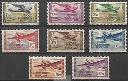 A E F Poste Aérienne 1937  Yv N° 1 à 8 Série Complète. Neuf** MNH - Neufs
