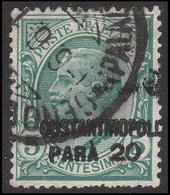 LEVANTE - COSTANTINOPOLI - Francobollo D'Italia 1901/19: 20 Pa. Su 5 C. Verde (81) - 1922 - Oficinas Europeas Y Asiáticas