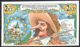 FRANCE FANTASY 14 FRANCS 2 ECU VIEUX BERGERAC 1995 UNC. - Francia