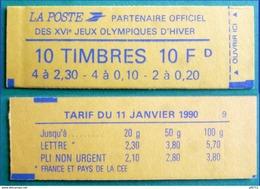 Carnet N°1502 Marianne De Briat De 1990 - P2614+2618 Et P2617+2618  (non Ouvert) - Libretti