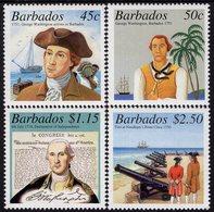 Barbados - 2001 - 250th Anniversary Of G. Washington's Visit To Barbados - Mint Stamp Set - Barbados (1966-...)