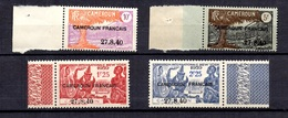 Cameroun France Libre Maury N° 161, N° 162 Et N° 164/165 Neufs ** MNH. B/TB - Cameroun (1915-1959)