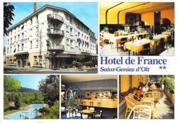 12 - SAINT GENIEZ D'OLT : Hotel Restaurant DE FRANCE - CPSM Village (  1.980 Habitants) Grand Format - Aveyron - France