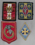 Lot De 4 Ecussons - Blazoenen (textiel)