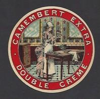Etiquette  Fromage Camembert (petit)  Extra Double Crème  -  Non Localisé - Cheese