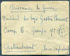 1940 France Privas (Ardeche) Cover - Prisoner Of War, POW Camp B, Châteaubriant. - Storia Postale