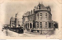 D64  BIARRITZ  Le Britisch Club Et L'Hôtel Victoria  Avec Le Tramway à Vapeur  .... Carte Peu Courante - Biarritz