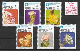 Fleur Cactus - Cuba N°2054 à 2057 1978 ** - Sukkulenten