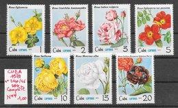 Fleur Rose - Cuba N°2140 à 2146 1979 ** - Rose