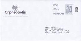 PAP Enveloppe Réponse ORPHEOPOLIS PORT PAYE 234768 - Entiers Postaux