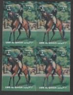 Umm Al Qiwain (1972)  3D - Block Of 4  /  Olympic Games - Horse Dressage - Dressur - Summer 1972: Munich