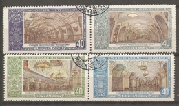 RUSSIE -  Yv N°  1642,1643 Et 1644,1645  (o)  Métro Moscou Cote  3,2 Euro  BE - Used Stamps