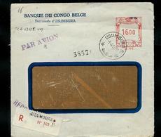 Lettre De BANQUE DU CONGO  Obl. Usumbura 04/04/52 En Rec. Par Avion - 1947-60: Briefe U. Dokumente
