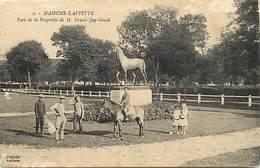 Dpts Div.-ref-AP92- Yvelines - Maisons Laffitte -parc De La Propriété De M. Franck Jay Gould - Chevaux - Hippisme - - Maisons-Laffitte