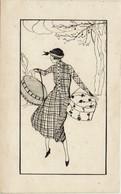 Illustratore - Donna Con Cappelliere - VIAGGIATA IN BUSTA 1921- Rif. 288 Ill. - Otros Ilustradores