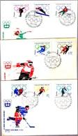 JUEGOS OLIMPICOS 1964 - Olimpic Games 1964. Set 3 SPD/FDC. Poland 1964 - Invierno 1964: Innsbruck