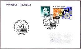 Matasellos 20 ANIVERSARIO DE HUNOSA. Oviedo, Asturias, 1987 - 1931-Hoy: 2ª República - ... Juan Carlos I