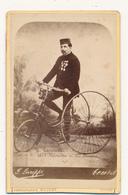 R. Lanneur, Excursion De 1008 Kilomètres - Vélocipède, Triporteur - Photo CDV  De F. Larippe, TOURS - Antiche (ante 1900)