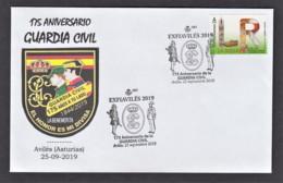 14.- SPAIN ESPAGNE 2019 SPECIAL POSTMARK 175 YEARS OF GUARDIA CIVIL SPANISH POLICE AVILES ASTURIAS - Polizei - Gendarmerie