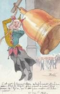 CPA Originale Caricature Satirique Sonneur De Cloche Clown Anti-Clérical Anti-Cléricalisme Illustrateur  BOBB (2 Scans) - Glaube, Religion, Kirche