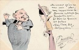 CPA Originale Caricature Satirique Anti-Clérical Anti-Cléricalisme Monseigneur Cureton Illustrateur  (2 Scans) - Religions & Beliefs