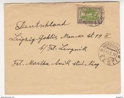 Au Plus Rapide Lettre Kuressaare Eesti Estonie Pour Leipzig Allemagne 15 Mars 1924 - Estonie