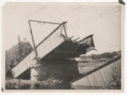 ° 43 ° LAMOTHE ° PONT ° Pont Détruit Et Reconstruction ° Lot De 5 Photos ° - Trains