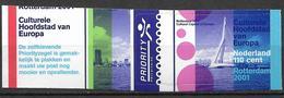 2001 Niderlande MI.1861**MNH  Rotterdam - Kulturhauptstadt Europas 2001 - Europese Gedachte