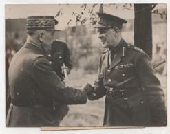 ° LE GENERAL GEORGES VISITE L'ARMEE BRITANNIQUE EN FRANCE ° - Krieg, Militär