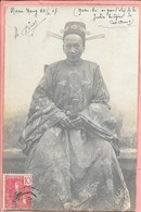 Carte Photo Indochine Nam Nang Guan-An Grand Chef De La Justice Infigène De Cao-Bang Gros Plan - Vietnam