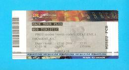 FC BARCELONA - Ticket For FC Barcelona Museum (1998.) * Football Soccer Futbol Futebol Calcio Foot Billet Spain Espana - Tickets D'entrée