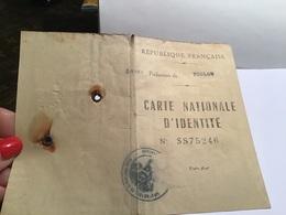 Carte Nationale D'identité Toulon La Loubière  Comme Sur La Photo Avec Des Lunettes - Sonstige