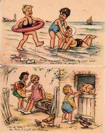 Germaine Bouret, 2 Cartes Serie 1938 , N° 7 Et 8 - Bouret, Germaine