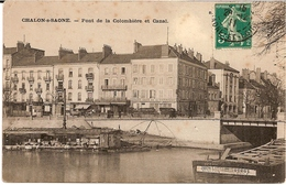 1H10  ---  71   CHALON-S-SAONE   Pont De La Colombière Et Canal - Chalon Sur Saone