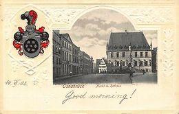 Germany Osnabrueck Markt M. Rathaus 1902 Embossed Postcard - Germany
