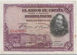 SPAIN P.  75b 50 P 1928 VF - [ 3] 1936-1975 : Regency Of Franco