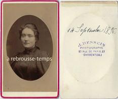 CDV En 1896-beau Portrait De Femme-photo à Charenton - Fotos