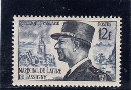 France - 1954 - N° YT 982** - Maréchal De Lattre De Tassigny - Francia