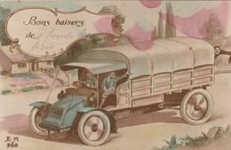 Rare Jolie Cpa Camion Guerre 14-18 Fantaisie - 1914-18