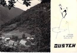 65 - OUSTEN Centre De Vacances D'AULON - CPSM Village (275 Habitants) Dentelée Noir Blanc GF 1959 - Pyrenées Atlantiques - Sonstige Gemeinden