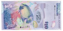 "Bermuda 10 Dollars 2009 ""Onion"" S/N 001171 UNC .PL. - Bermudas"