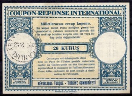 TURQUIE / TURKEY Lo15 26 KURUSInt. Reply Coupon Reponse IRC IAS Antwortschein O ANKARA BAKANLIKLAR 19.2.53 - Enteros Postales