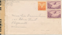Cuba Censored Cover Sent To USA 19-9-1943 (Censor 4873) - Covers & Documents