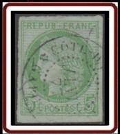 Colonies Générales - N° 17 (YT) N° 17 (AM) Oblitéré Côte D'Or Et Gabon / Gabon. Défectueux Et Réparé. - Cérès