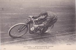 "MOTO-Les Sports-MOTOCYCLETTISTE ITALIEN ""GIUPPONE""-Recordman Du Monde-Illustrateur-N.D.-Bon Etat - Motos"
