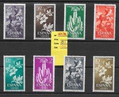 Fleur Cactus - Sahara Espagnol N°187 à 194 1962 ** - Sukkulenten